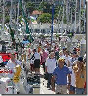 Cruising Yacht Club Australia on race day last year